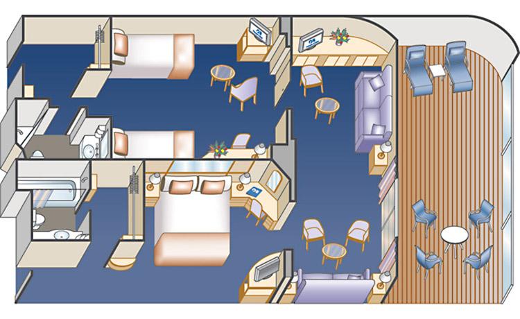 Семейный люкс с 2 спальнями