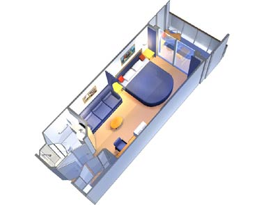 """Каюта с балконом """"Deluxe Ocean View Stateroom with Balcony"""""""