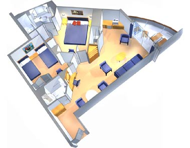 "Сьют ""Two Bedroom Suite with Balcony"""