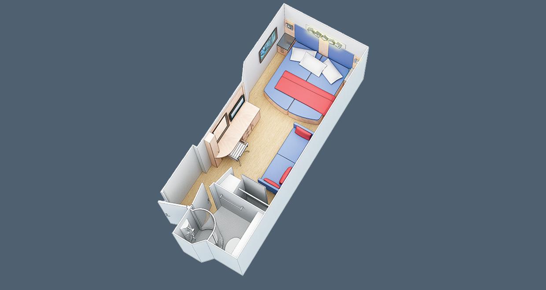"""Внутренняя каюта """"Promenade Family Stateroom"""""""