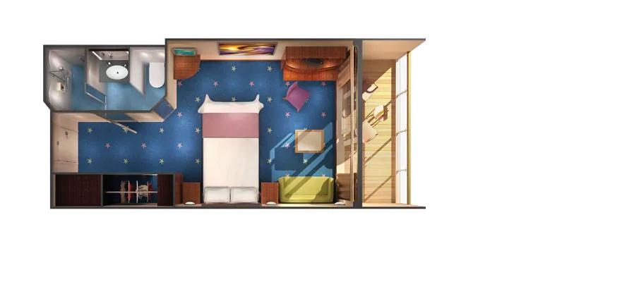 """Каюта с балконом """"Family Balcony Stateroom"""""""