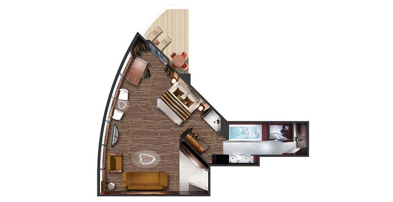 """Сьют """"The Haven Deluxe Owner's Suite with Large Balcony"""""""