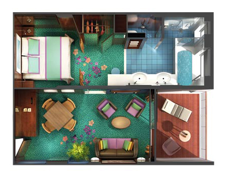 """Сьют """"The Haven Courtyard Penthouse with Balcony"""""""