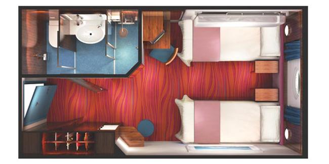 """Каюта с окном """"Oceanview Porthole Window Stateroom"""""""