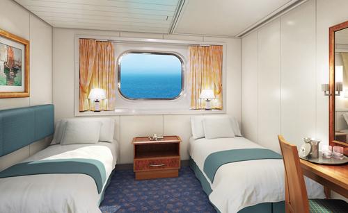 """Каюта с окном """"Larger Oceanview Picture Window """""""