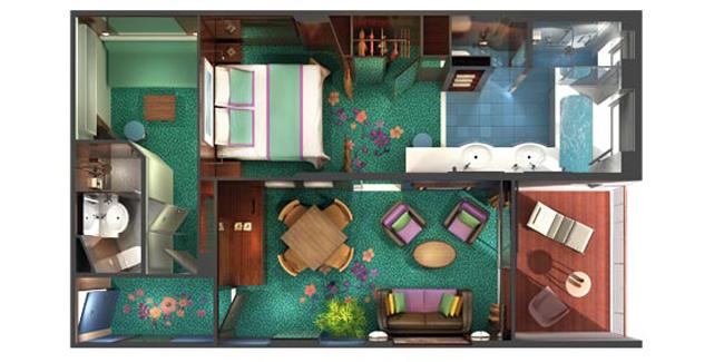 "Сьют ""2-Bedroom Family Suite with Balcony"""