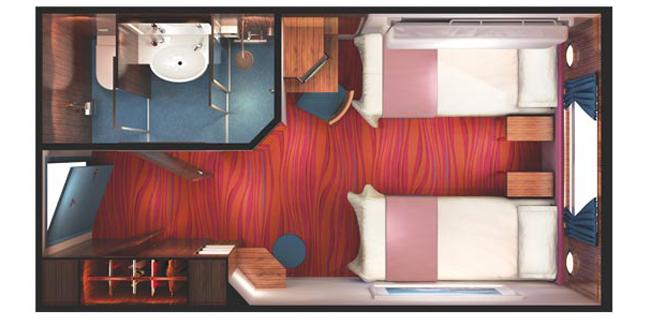 """Каюта с окном """"Obstructed Oceanview Stateroom"""""""