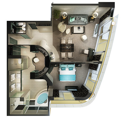 "Сьют ""The Haven Owner`s Suite with Large Balcony"""