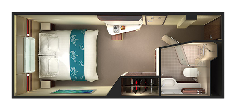 "Каюта с окном ""Mid-Ship Oceanview Stateroom with Large Picture Window"""