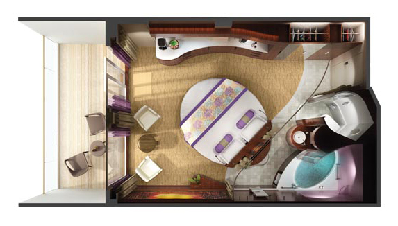 "Сьют ""The Haven Courtyard Penthouse with Balcony"""