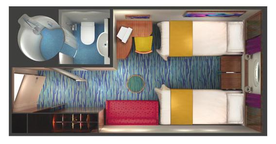"""Каюта с окном """"Family Oceanview Large Porthole Window Stateroom"""""""