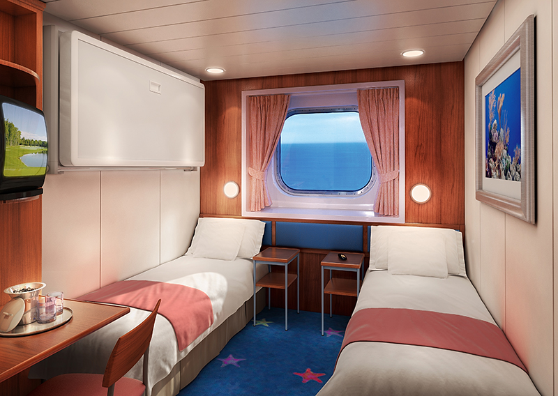 "Каюта с окном ""Family Oceanview Picture Window Stateroom"""