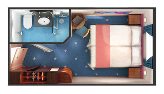 "Каюта с окном ""Mid-Ship Oceanview Picture Window Stateroom"""