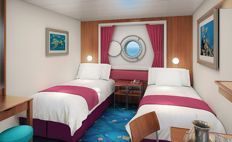 "Каюта с окном ""Mid-Ship Oceanview Porthole Window Stateroom"""