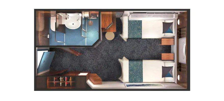 """Каюта с окном """"Family Oceanview Picture Window Stateroom"""""""