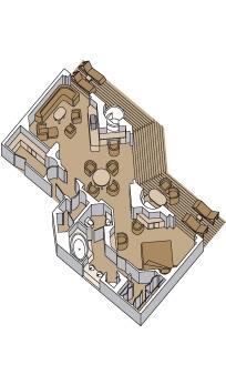 """Пентхаус сьют с балконом/""""Penthouse verandah suite"""""""