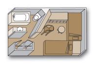"Внутренняя каюта ""Single interior stateroom"""