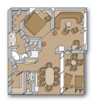 """Пентхаус сьют с балконом """"Penthouse verandah suites"""""""