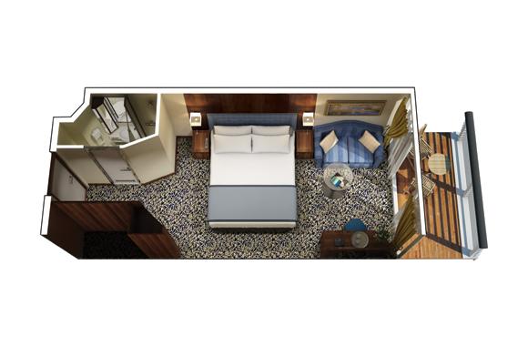 "Каюта с балконом ""Veranda Stateroom"""