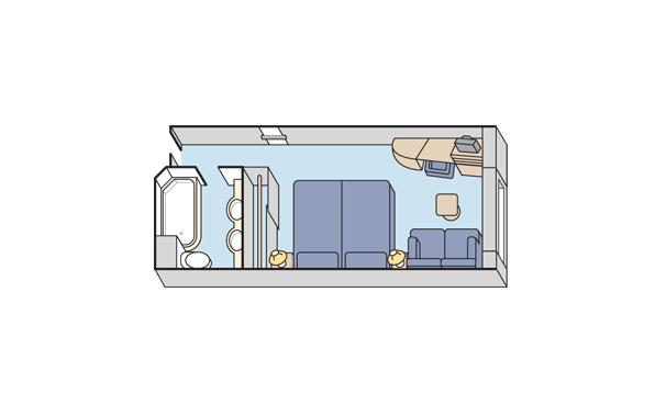 Каюта Deluxe с панорамным окном (с ограниченным видом)