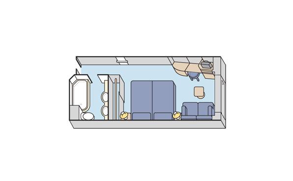 Каюта Deluxe с панорамным окном