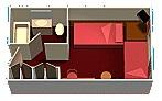 """Каюта с балконом """"Aft-View Extended Balcony"""""""