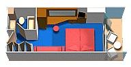 "Каюта с балконом ""Cloud 9 SPA Balcony"""