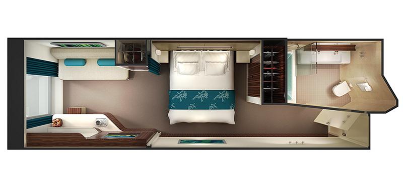 """Каюта с окном """"Family Oceanview Stateroom with Large Picture Window"""""""