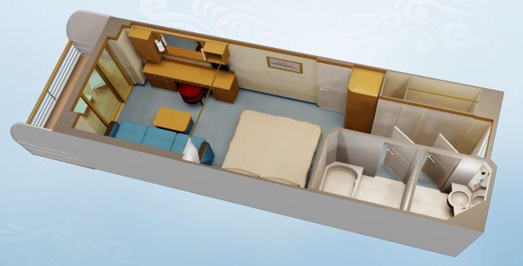 "Каюта с балконом ""Deluxe Oceanview Stateroom with Navigator`s Verandah"""