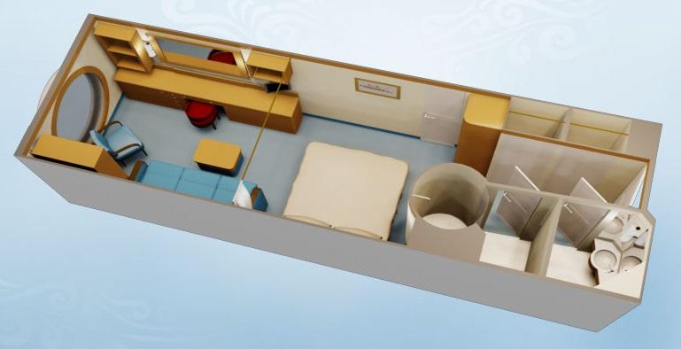 """Каюта с окном """"Deluxe Family Oceanview Stateroom"""""""
