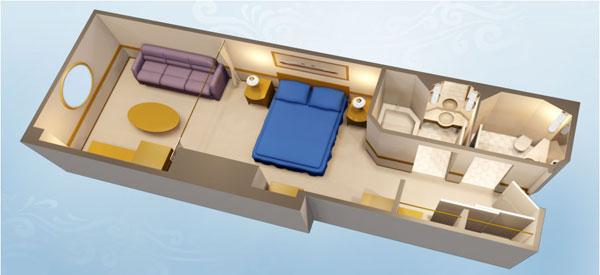 """Каюта с окном """"Deluxe Oceanview Stateroom"""""""