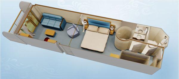 """Каюта с балконом """"Concierge Family Stateroom with Verandah"""""""