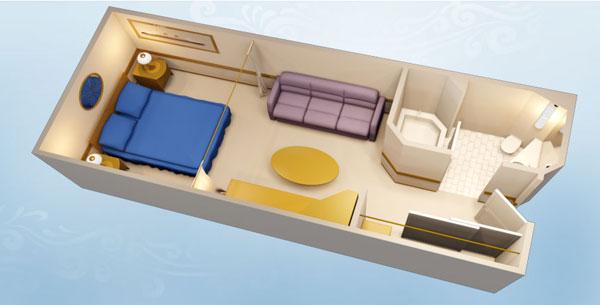 "Внутренняя каюта ""Standard Inside Stateroom"""