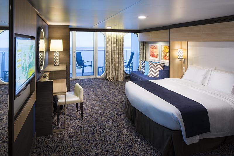 """Каюта с балконом """"Super Studio Ocean View Stateroom with Balcony"""""""