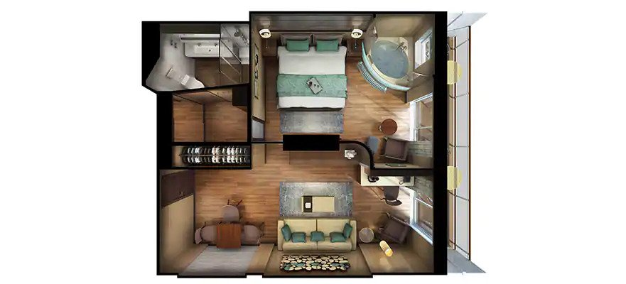 """Сьют """"The Haven Deluxe Spa Suite with Balcony"""""""