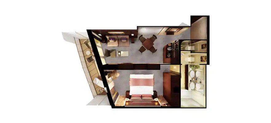 """Сьют """"The Haven Aft-Facing Penthouse with Balcony"""""""