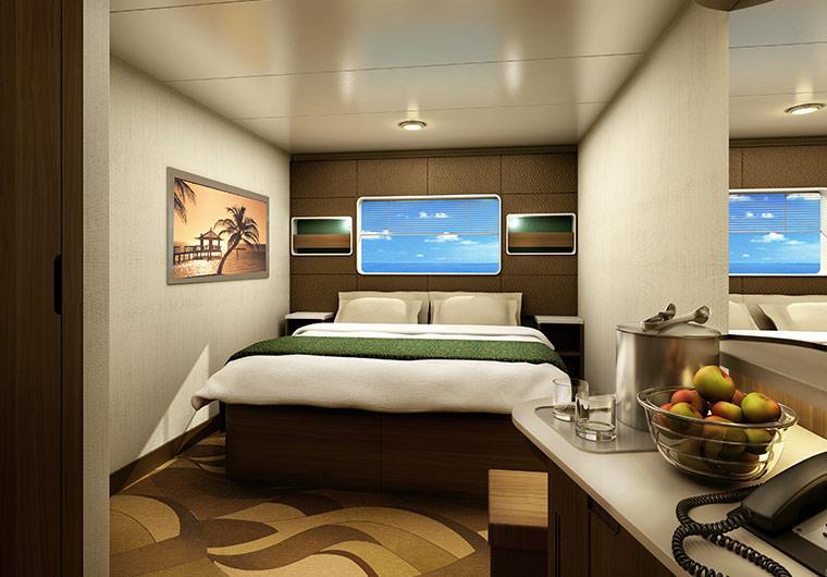 """Каюта с окном """"Mid-Ship Oceanview Stateroom with Large Picture Window"""""""
