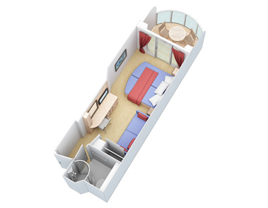 "Каюта с балконом ""Boardwalk View Stateroom with Balcony"""