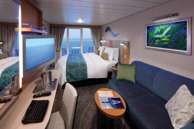 "Каюта с балконом ""Superior Ocean View Stateroom with Large Balcony"""