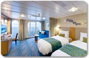 "Каюта с балконом ""Family Ocean View Stateroom with Balcony"""