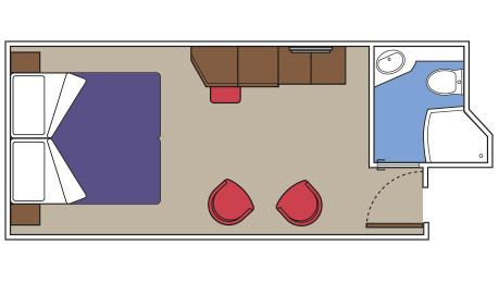 """Внутренняя каюта """"Yacht Club"""""""