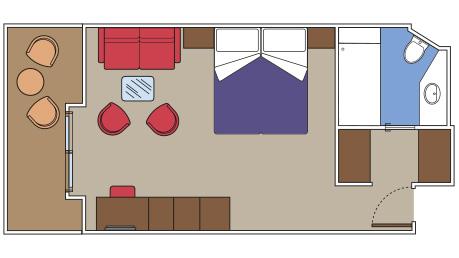 """Сьют с балконом """"Deluxe Yacht Club"""""""