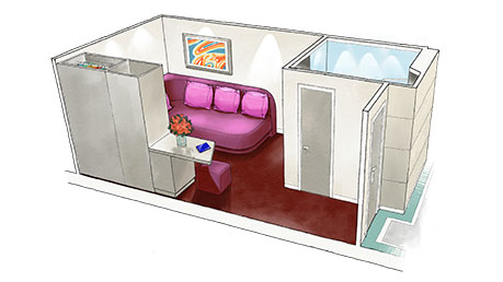 Interior Studio (Внутренняя каюта-студия)