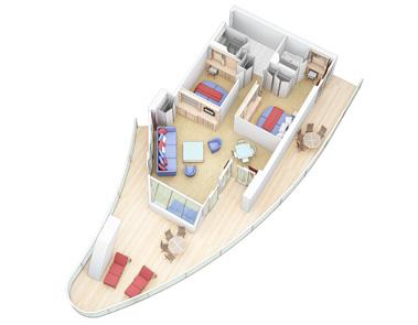 """Сьют """"AquaTheater Suite with Balcony"""""""