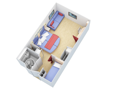 "Внутренняя каюта ""Family Interior Stateroom"""