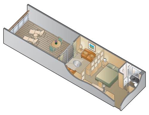 """Каюта с балконом """"Family Veranda Stateroom"""""""