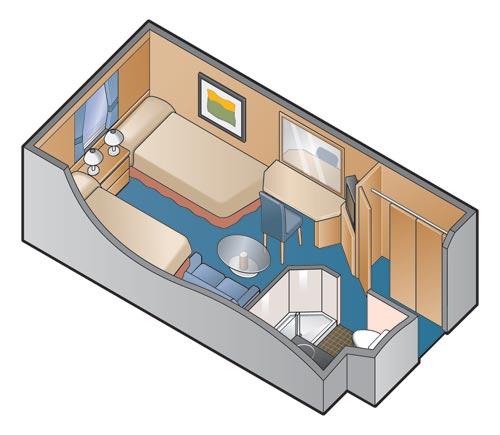 """Каюта с окном """"Ocean View Stateroom"""""""