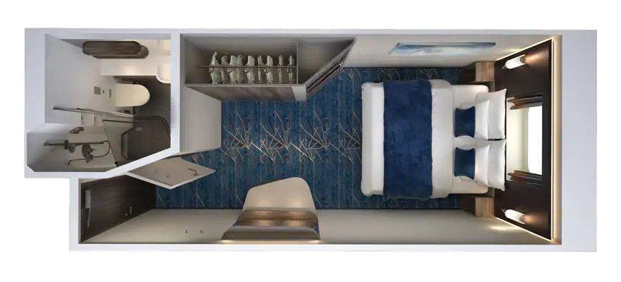 """Каюта с окном """"Oceanview - Connecting Stateroom"""""""