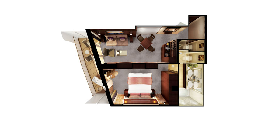 """Сьют """"The Haven Forward-Facing Penthouse with Balcony"""""""